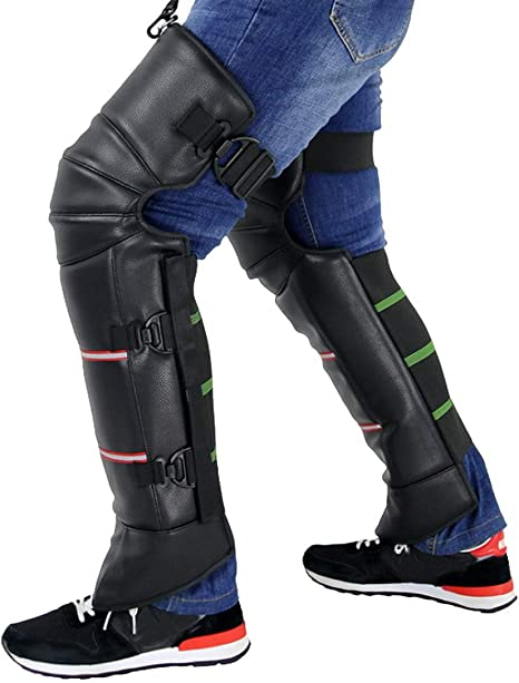 Dream-cool 1/Paio Ginocchiere Autunno e Inverno Nuovo da Uomo Leggings Moto Parabrezza Auto elettrica Ginocchiere Equitazione Caldo Protettiva Gear Nero