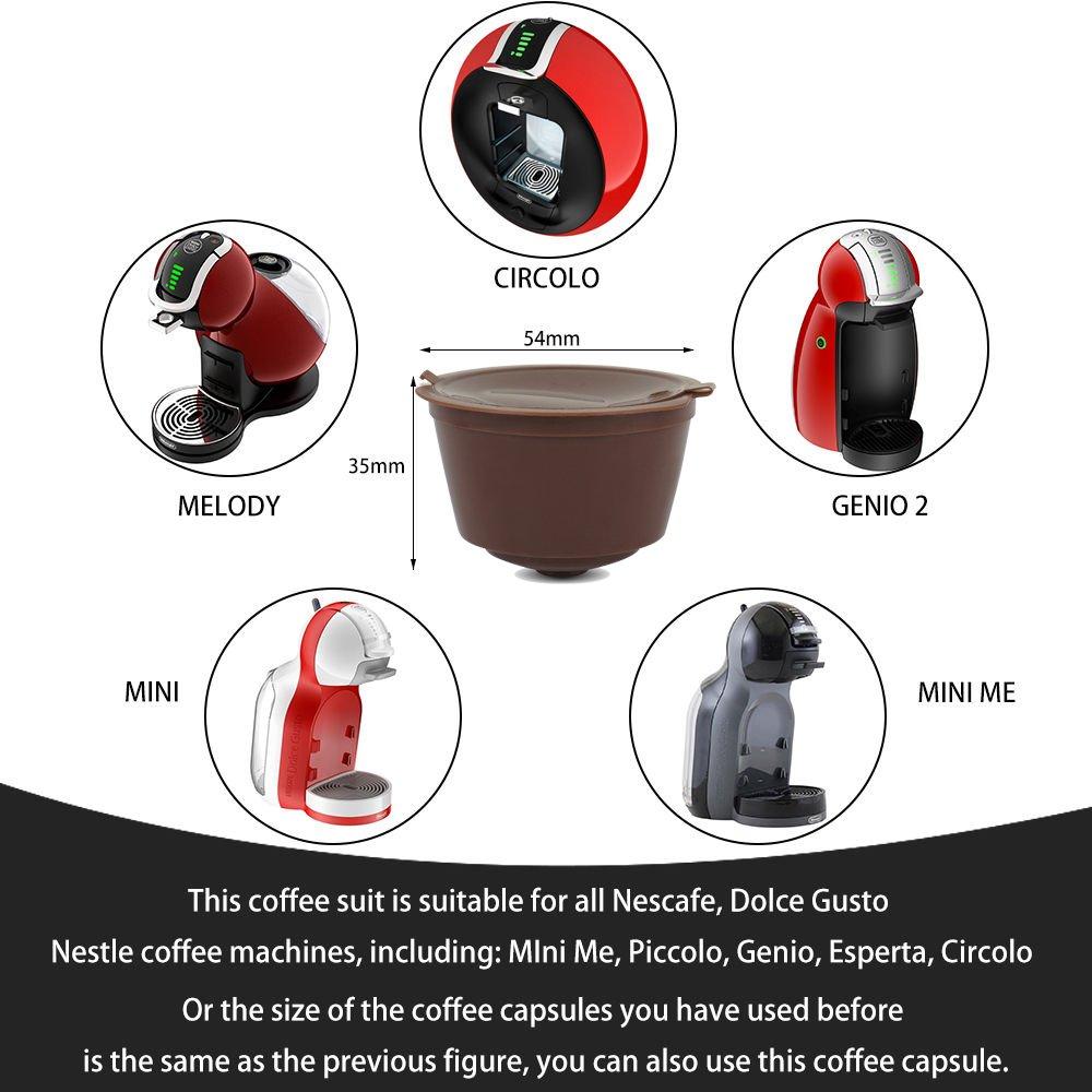 Amazon.com: belr rellenables Dolce Gusto cápsulas de café ...