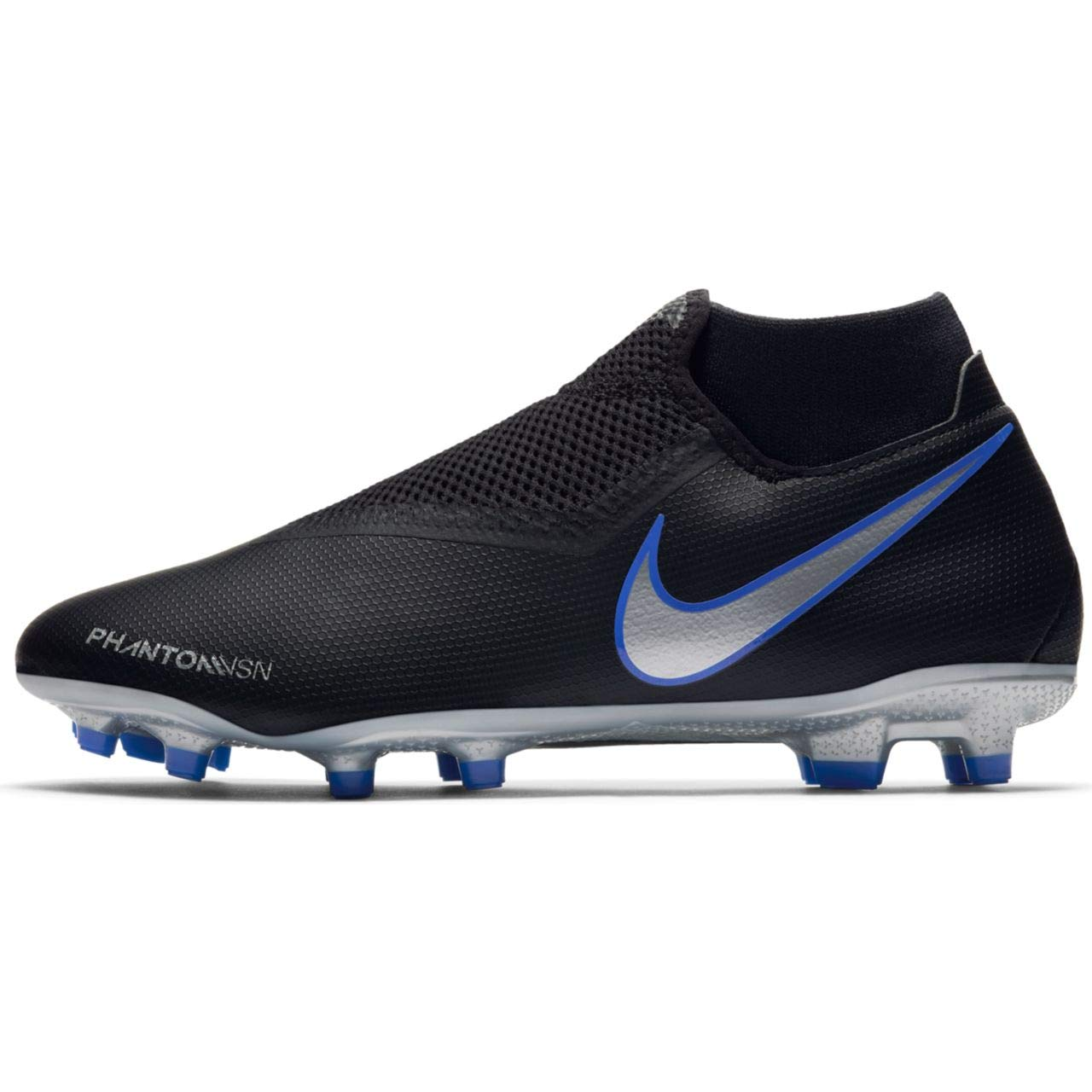 Nike Phantom Vision Academy Men's Firm Ground Soccer Cleats (8 M US, Black/Silver)