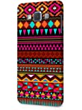 Cover Affair Aztec Printed Designer Slim Light Weight Back Cover Case for Samsung Galaxy A7 2015 Model (Pink & White & Blue & Black & Other)