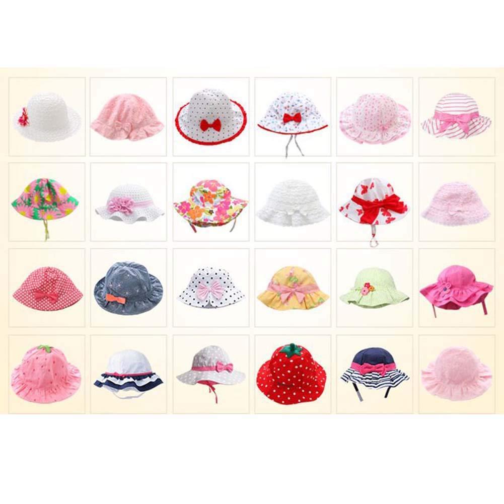 06 Cute Baby Toddler Kids Sun Hats Summer Cap Bucket Hat for Baby Girls