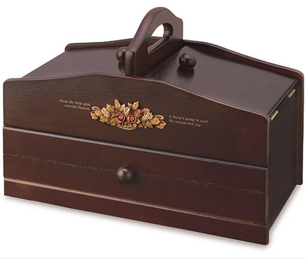 ウッデン WOODEN SEWING BOX ソーイングボックス 木製 008-342 B01N6517O2