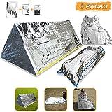 3-In-1 Emergency Survival Blanket+Tent+Sleeping Bag, Modchan Heat Reflective Waterproof Mylar Emergency Survival Thermal Shelter Tube Tent, Sleeping Bag, Blanket Survival Kits for Camping Hiking