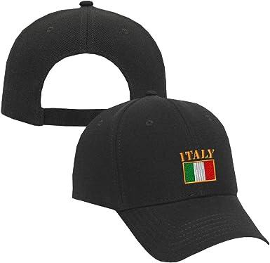 Italy Flag Music Band Fashion Classic Full Print Visor Hat Adjustable Baseball Cap