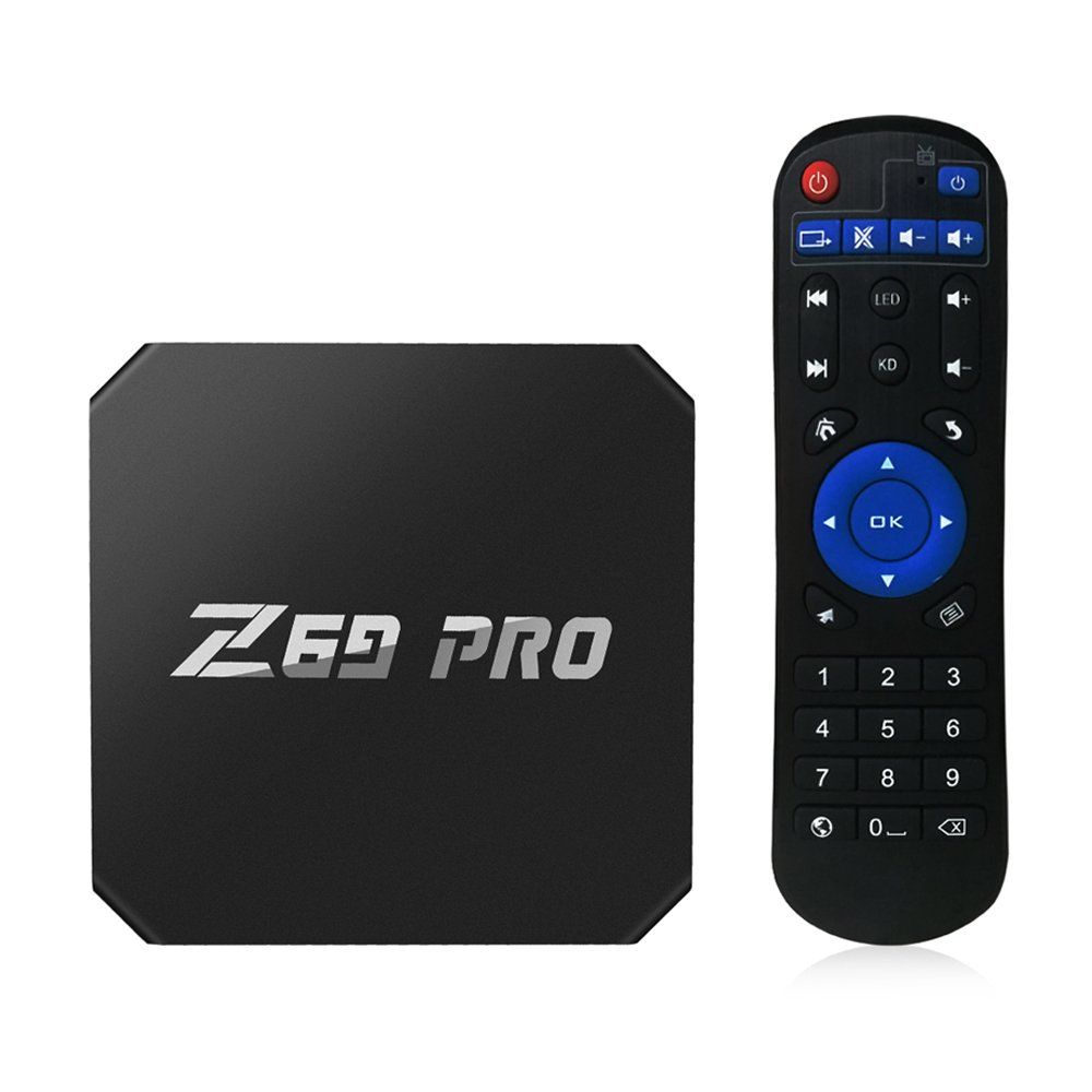 Walmeck Smart Android 7.1 TV Box,Z69 PRO,Amlogic S905W Quad Core H.265 VP9 1GB/8GB WiFi LAN HD Smart Media Player US Plug