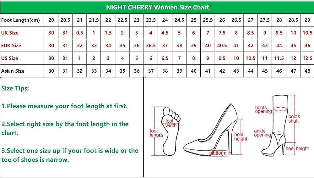 NIGHT CHERRY Femmes Simple Bloc Escarpins