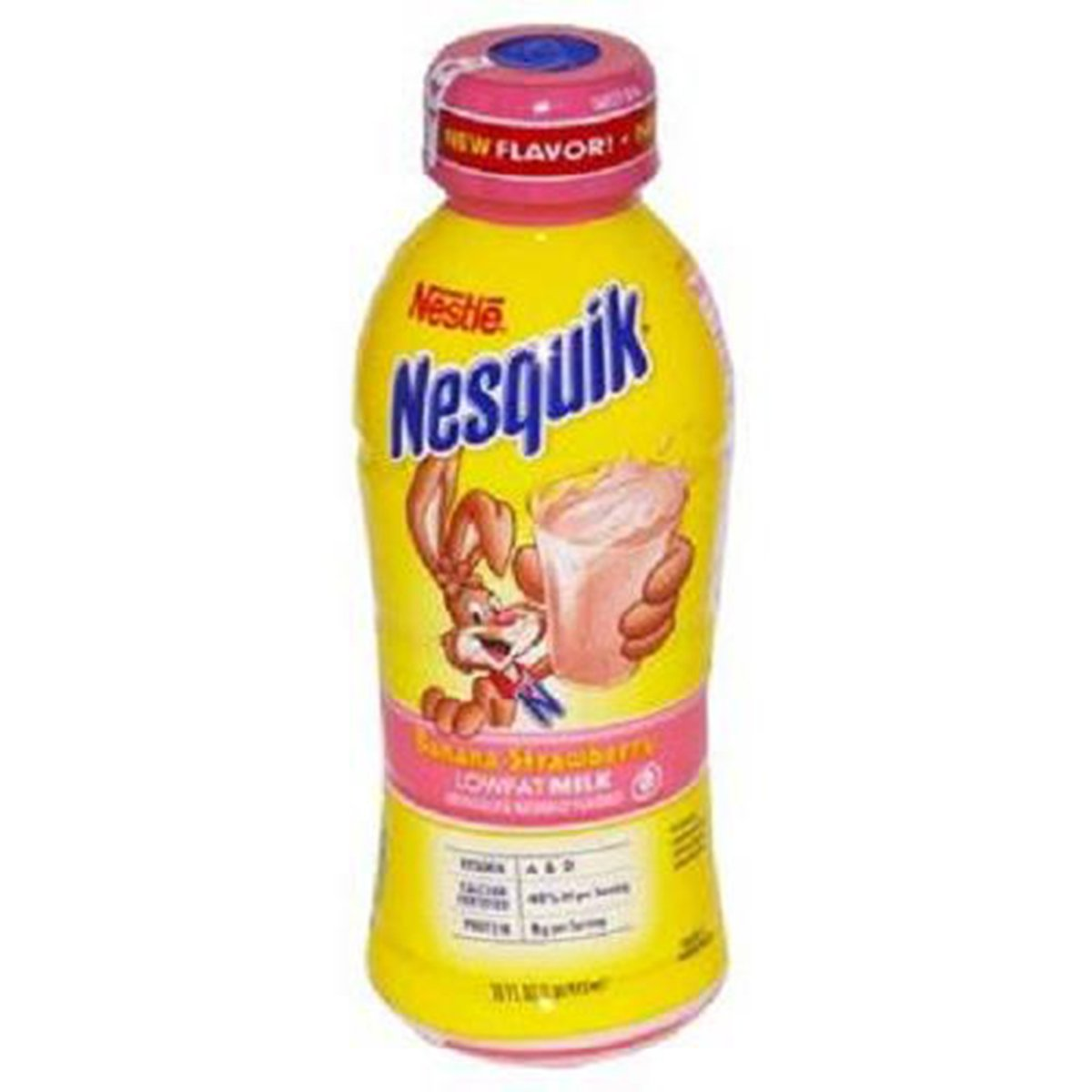 Product Of Nesquik, Low Fat Milk - Banana Strawberry, Count 12 (14 oz) - Milk/Yogurt/Smoothie / Grab Varieties & Flavors