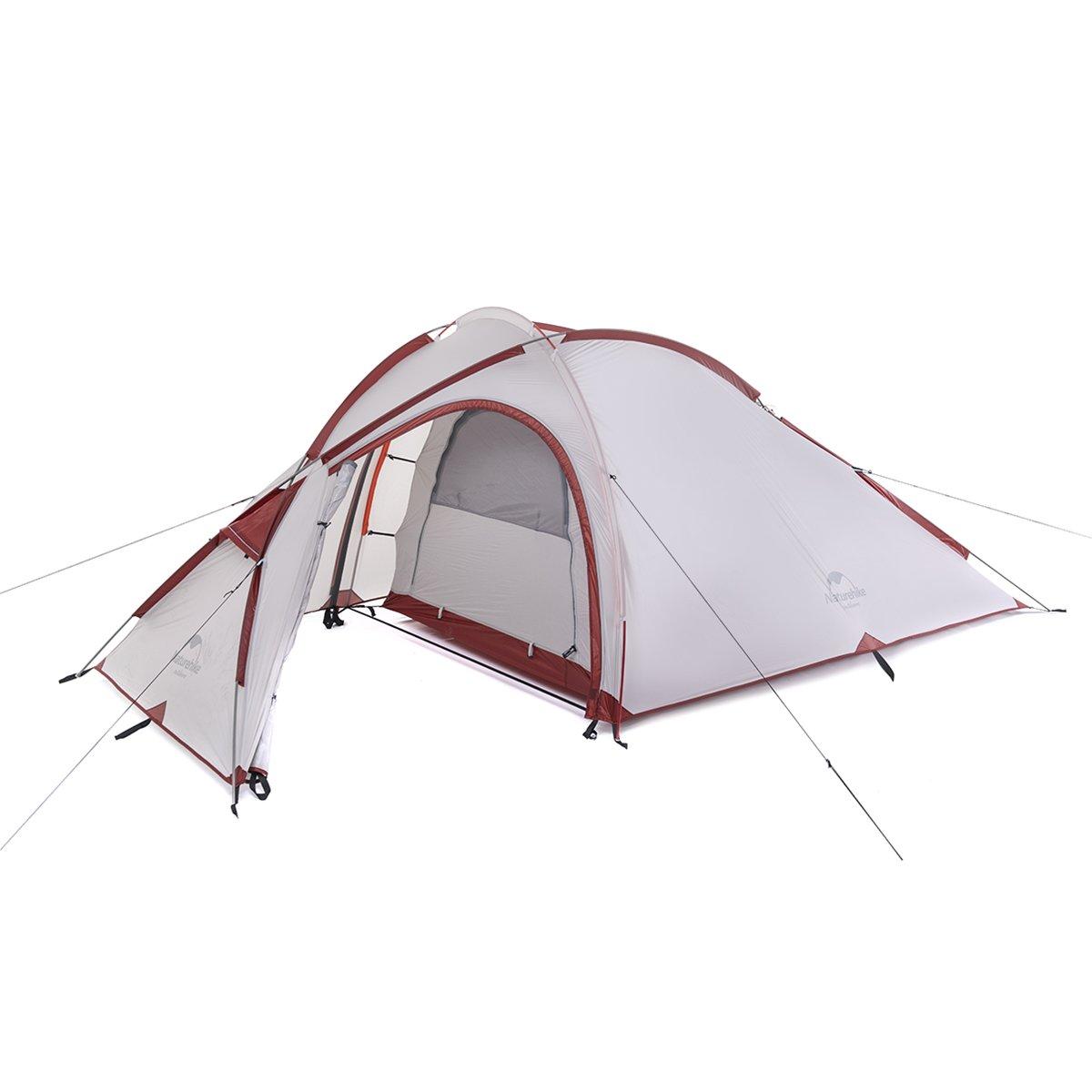 Naturehike hiby Familie Zelt 20D Silikon Stoff One Schlafzimmer 3 Person 3 Saison Camping Zelt