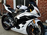 2006 2007 White Black Injection Fairing Fit for Yamaha YZF R6 ABS Plastic Motorcycle Bodywork
