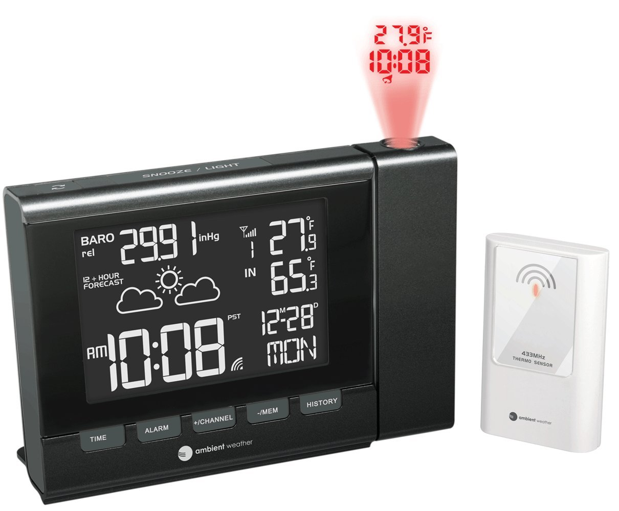 Amazoncom Ambient Weather RC 8401 Projection Clock with