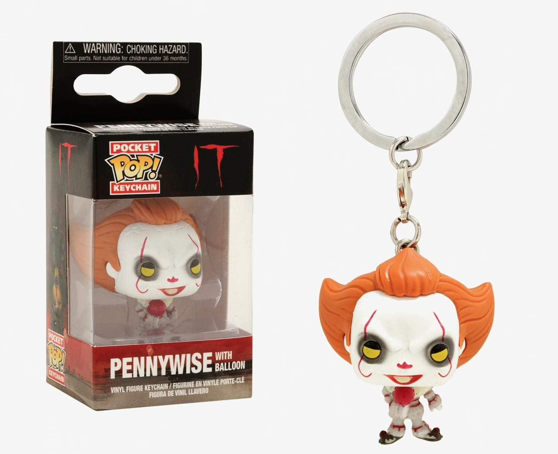 2018, Toy NEU Pennywise W// Wig Funko Pop It Keychains: