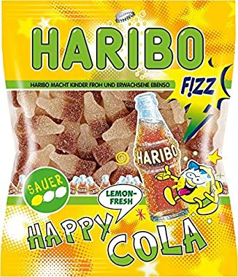 Haribo Happy Cola Lemon Fresh Fizz, Caramelos de Goma ...