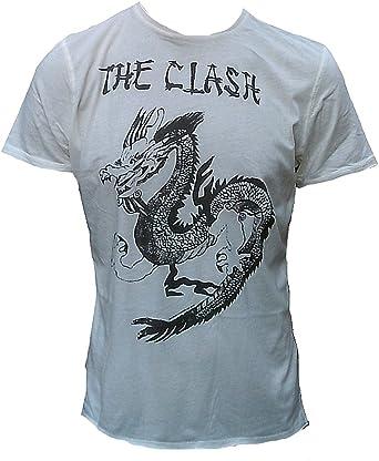 Original Amplified Vintage Hombre Tattoo Camiseta The Clash Dragon Crema Talla S: Amazon.es: Ropa y accesorios