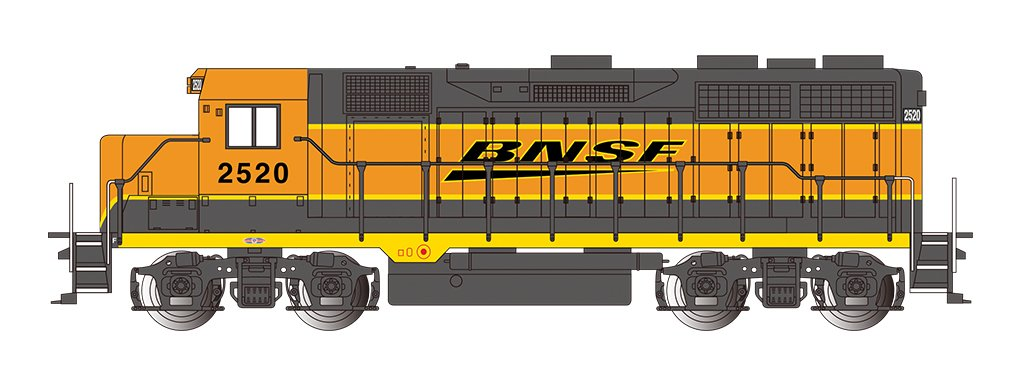 Bachmann Industries E-Z App Smart Phone Controled BNSF #2520 GP35 Locomotive Train