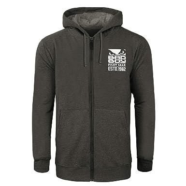 Amazon Com Bad Boy Original Fight Club Zipper Hoodie Sweatshirt