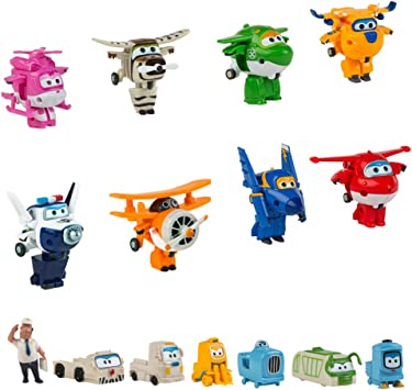Super Wings - Pack colección 8 Super Wings transformables y 7 personajes extra (ColorBaby 43962): Amazon.es: Juguetes y juegos