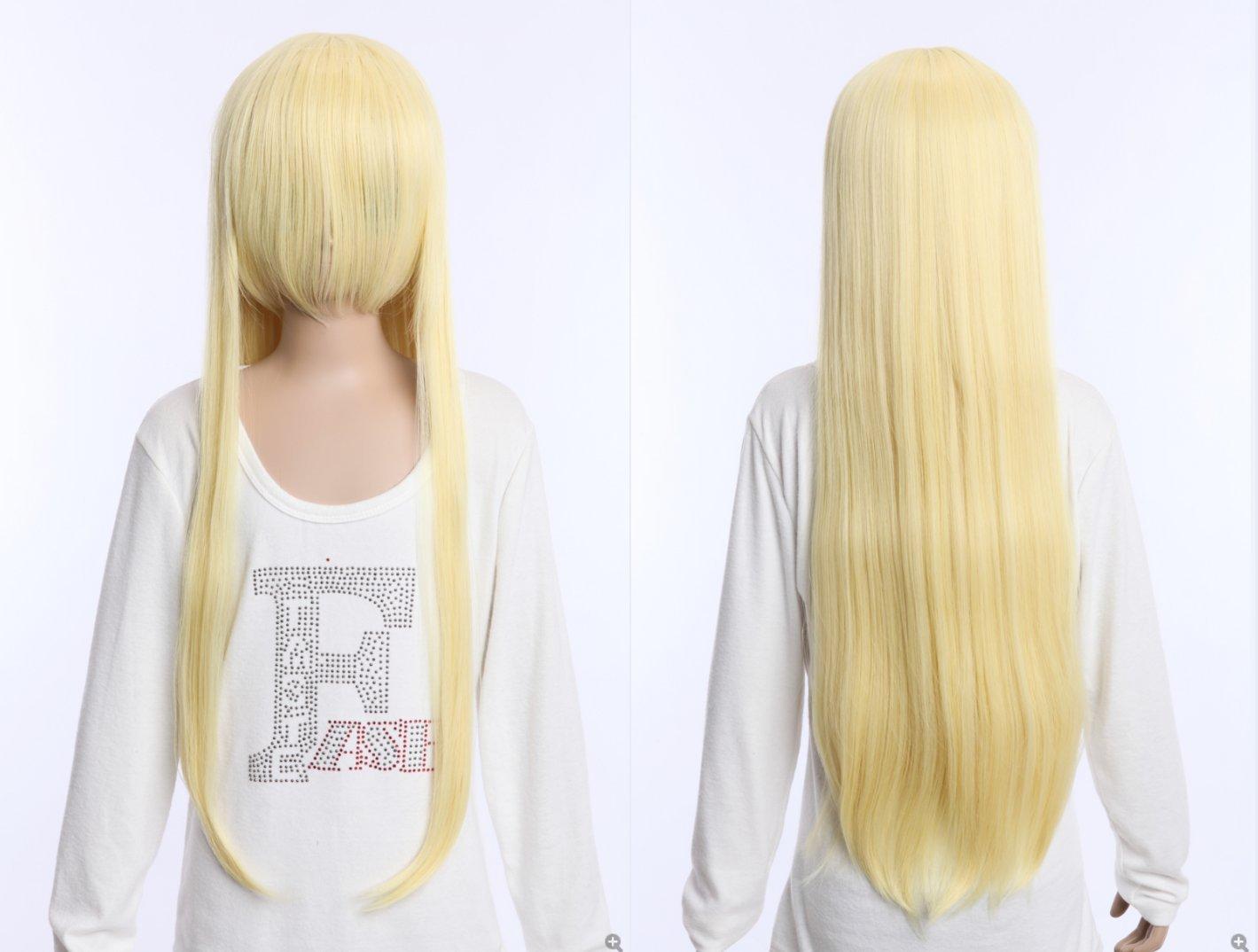 Kawaii-Story W DE 04 DE bc52 Rubio Blonde 80 cm Cosplay Peluca Wig Perruque Pelo Hair Anime: Amazon.es: Juguetes y juegos