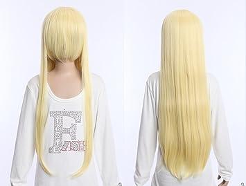Kawaii-Story W DE 04 DE bc52 Rubio Blonde 80 cm Cosplay Peluca Wig Perruque