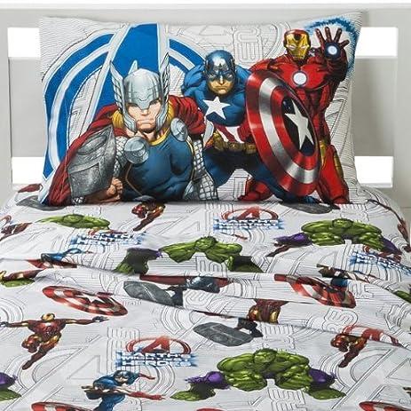 amazoncom marvel the avengers cotton rich sheet set full home