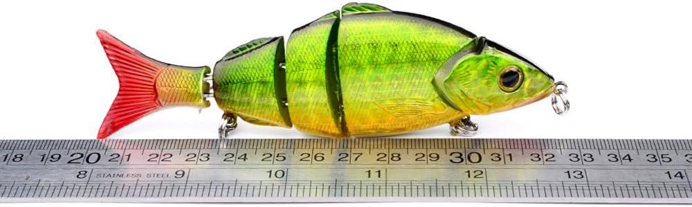 CHSEEO 4Pc 12.8cm//22g Leurres de P/êche Multi Articul/é Bionic Leurre Vivant Multisegements Durs App/ât de P/êche Crankbait Dur Swimbait pour leau de Mer et leau Douce #3