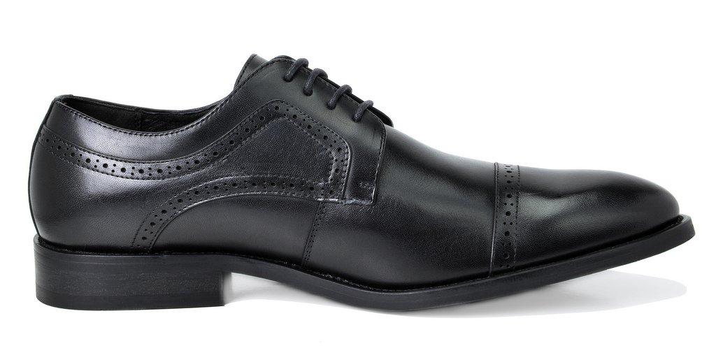 Bruno Marc Men's Waltz-1 Black Genuine Leather Dress Oxfords Shoes Size 11 M US by BRUNO MARC NEW YORK (Image #4)