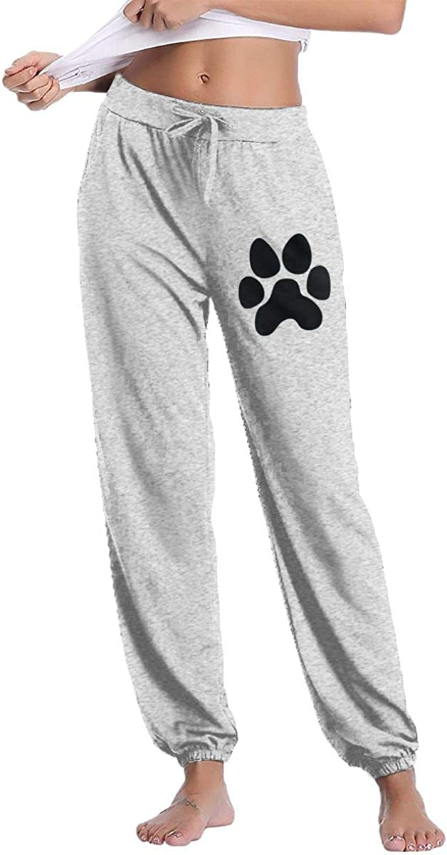 Hand Paw Print Dog Cat Paw Capris Pant Womens Jogger Lightweight Pants with Side Pockets