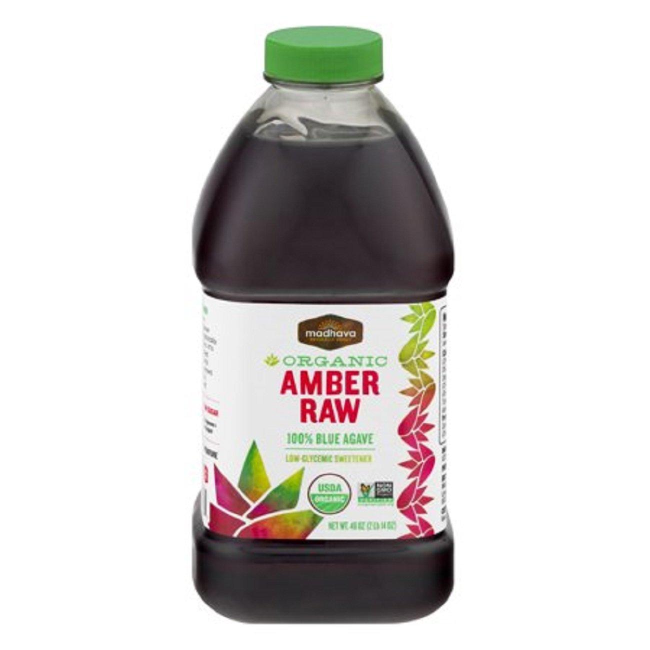 Natural Sweeteners Organic 100% Blue Agave Amber Raw, 46.0 OZ