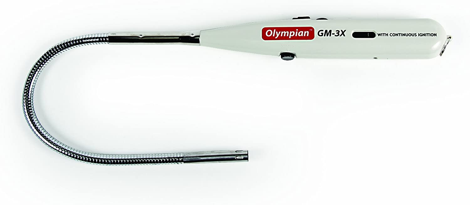 Renewed Camco Olympian GM-3X Gas Match with Adjustable Flame and Safety Lock Feature Fuel Viewing Window 57549 Refillable with Lighter Fuel
