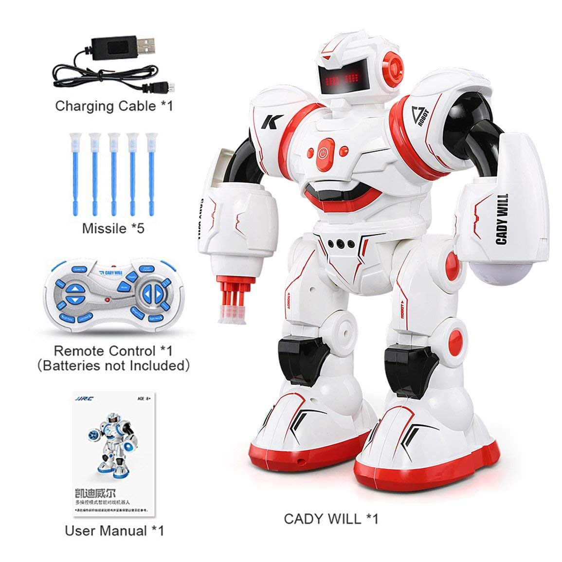 Fantasyworld JJRC R3 Programmierbare Defender Fernbedienung Early Education intelligente Roboter Multi Funtion Musical Tanzen RC-Spielzeug-Kind-Geschenk