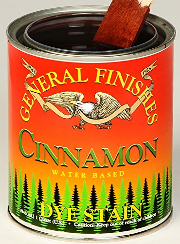 General Finishes Water Based Dye Stain Cinnamon Gallon