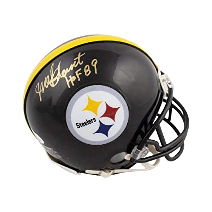 c9e423492 Amazon.com  Mel Blount HOF 89 Autographed Pittsburgh Steelers Mini Football  Helmet - JSA COA  Sports Collectibles