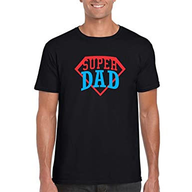 d4d54eee Giftsmate Fathers Day Super Dad Mens T-shirt Cotton: Amazon.in ...