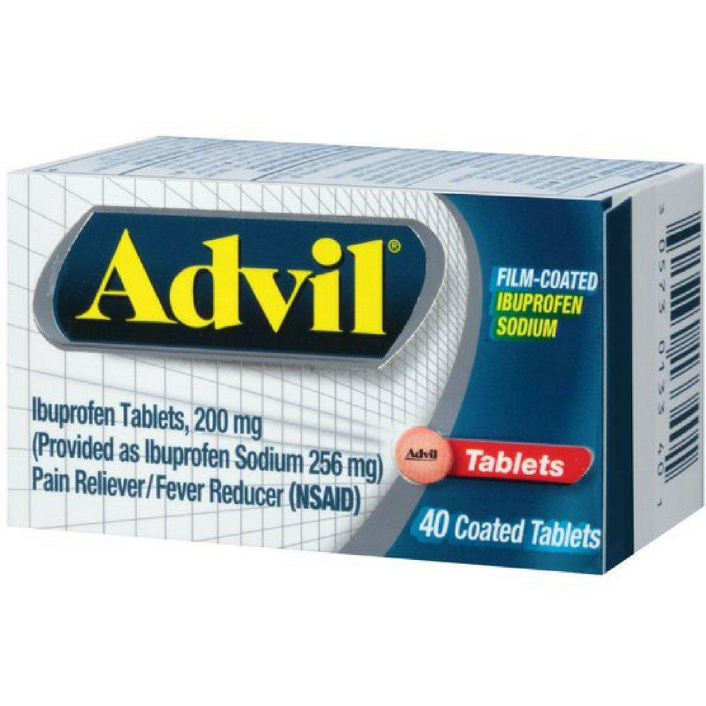Advil Film-Coated Ibuprofen 200 mg Tablets 40 ea ( Pack of 6) by Wyeth Consumer Healthcare