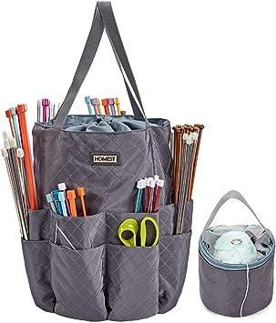 Fabric Knitting Needles Bag Handmade Tube Bag Organizer Knitting Accessories