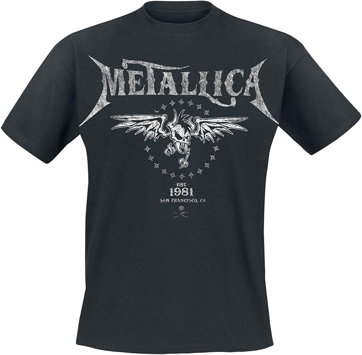 Metallica Biker Hombre Camiseta Negro, Regular: Amazon.es: Ropa y accesorios