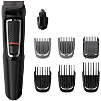 Philips Multigroom Series 3000 8-in-1 Face and Hair Cordless Trimmer with 8 Tools, Rinseable Attachments and up to 60…