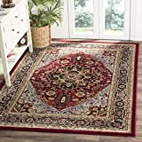 Safavieh Lyndhurst Collection LNH330B Traditional Oriental Medallion Red and Black Area Rug (4′ x 6′)
