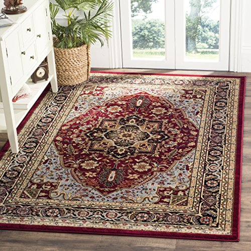 Safavieh Lyndhurst Collection LNH330B Traditional Oriental Medallion Red and Black Area Rug (5'3