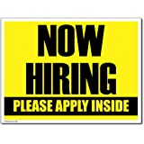 "18"" x 24"" Corrugated Plastic Sign - Now Hiring Sign"