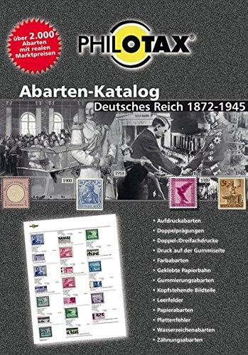 Abarten-Katalog Deutsches Reich 1. Auflage