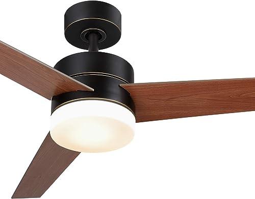 CO-Z 52 Inch Ceiling Fan Light Old Bronze Finish