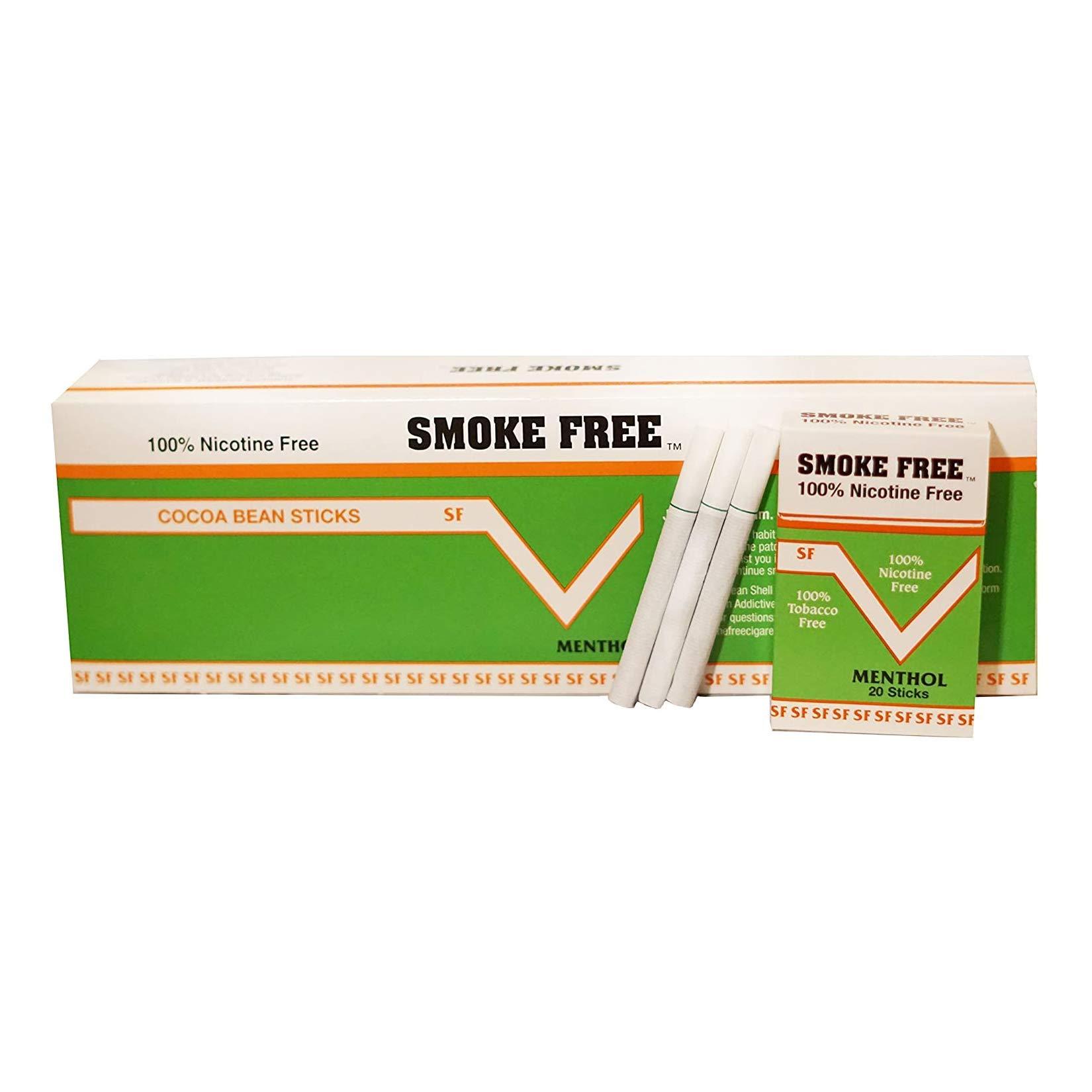 (Carton 10 Packs) 100% Nicotine Free(Cocoa Bean Sticks) Menthol Flavor