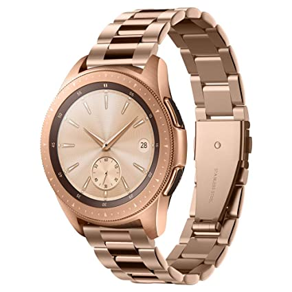 Spigen Modern Fit Designed for Samsung Galaxy Watch Active 1&2 (2019) / Galaxy Watch 42mm (2018) / Gear S2 Classic (2015), 20mm Smartwatch Band - Rose ...