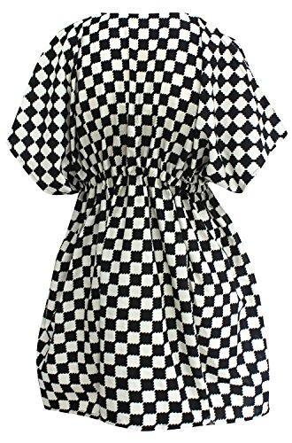 La Leela Baumwolle Frauen Bademoden Badeanzug Kimono-Bikini-Vertuschung  Bluse Kaftan Kleid ...
