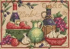 Dimensions Mediterranean Flavors Mini Cntd X-Stitch Kit