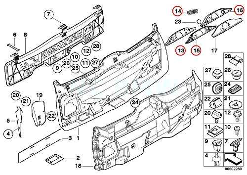 Amazon Com Bmw Genuine Wiper Linkage Cover Automotive