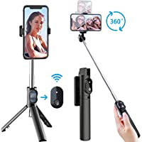 Selfie Stick Tripod, Extendable Selfie Stick with Detachable Wireless Remote and Tripod Stand Selfie Stick for iPhone 11…