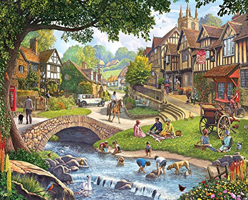 White Mountain Puzzles Summer Village - 1000 Piece Jigsaw Puzzle