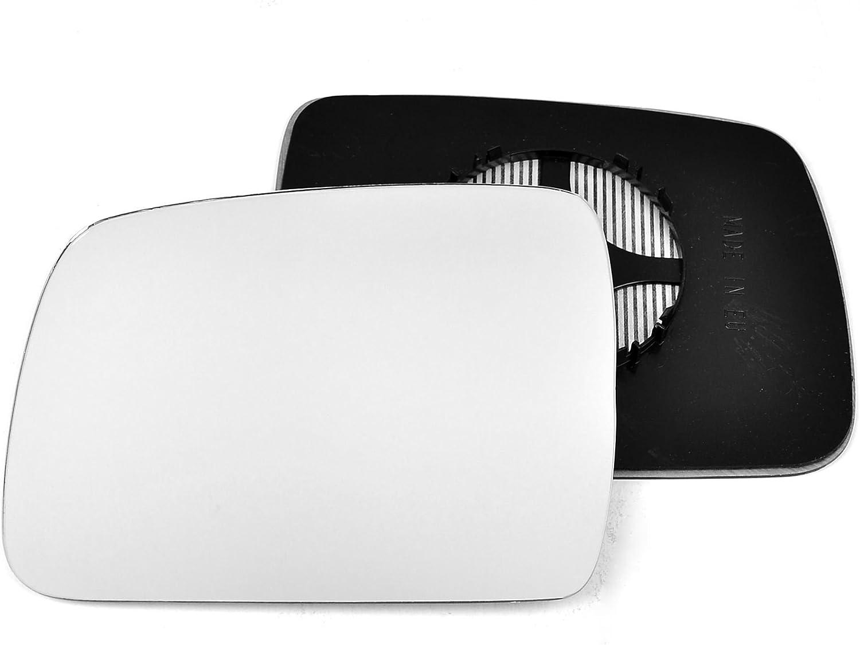 Passagier linken Seite Beheizte Wing T/ür Silber Spiegelglas mit Tr/ägerplatte # c-shy//l-lrdy09/ Clip auf