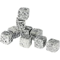 Goolsky 9pcs 18mm Whisky Ice Stones Drinks Cooler Cubes Beer Rocks Granite with Pouch